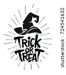 trick or treat halloween text... | Shutterstock .eps vector #724541632