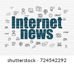 news concept  painted blue text ... | Shutterstock . vector #724542292