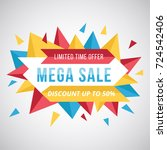 fantastic full color mega sale...   Shutterstock .eps vector #724542406