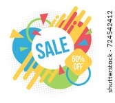 sale background with geometric... | Shutterstock .eps vector #724542412