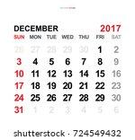 December 2017. Vector Monthly...