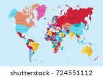 color world map | Shutterstock .eps vector #724551112