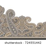 paisley indian motif | Shutterstock . vector #724551442