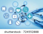 stethoscope isolated on white | Shutterstock . vector #724552888