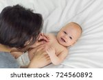 portrait of a child four months ... | Shutterstock . vector #724560892