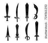 blades sabers swords... | Shutterstock .eps vector #724561252