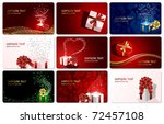 set of cards with presents ... | Shutterstock .eps vector #72457108