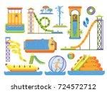 water aquapark playground... | Shutterstock .eps vector #724572712