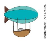zeppelin transport icon image   Shutterstock .eps vector #724575826