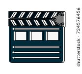 clapperboard cinema icon image | Shutterstock .eps vector #724576456