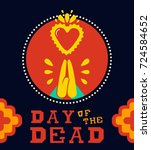 mexican day of the dead... | Shutterstock .eps vector #724584652