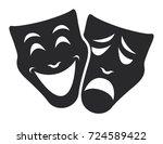 theater mask symbols vector set ... | Shutterstock .eps vector #724589422