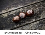 A Horse Chestnut On A Wooden...