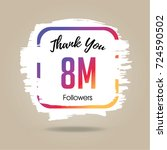 thank you design template for... | Shutterstock .eps vector #724590502