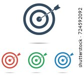 target icon set   simple flat...   Shutterstock .eps vector #724592092