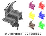 colombia map vector... | Shutterstock .eps vector #724605892