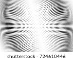 abstract halftone wave dotted... | Shutterstock .eps vector #724610446