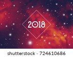 astrological new year 2018... | Shutterstock .eps vector #724610686