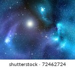 starry background of stars and  ... | Shutterstock . vector #72462724