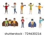 virtual reality vr glass... | Shutterstock .eps vector #724630216