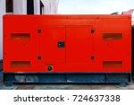 mobile electric power generator ...   Shutterstock . vector #724637338