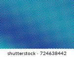 blue and cyan halftone vector... | Shutterstock .eps vector #724638442