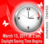daylight saving time begins... | Shutterstock .eps vector #72464521
