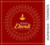 diwali  indian festival of... | Shutterstock .eps vector #724650676