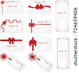 set of gift card on white... | Shutterstock .eps vector #724659406