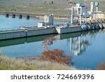 ice harbor dam | Shutterstock . vector #724669396