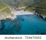 aerial view of the coast of... | Shutterstock . vector #724673332