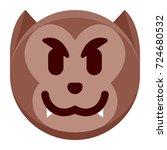 vector cartoon werewolf emoji...   Shutterstock .eps vector #724680532