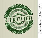 green certified distress rubber ... | Shutterstock .eps vector #724687012