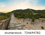 the great wall of china at... | Shutterstock . vector #724694782
