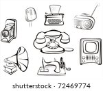 collection of retro home... | Shutterstock .eps vector #72469774
