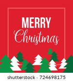 merry christmas text over red... | Shutterstock .eps vector #724698175