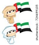 united arab emirates   uae  ...   Shutterstock .eps vector #724699105