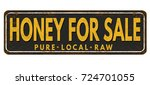 honey for sale vintage rusty... | Shutterstock .eps vector #724701055