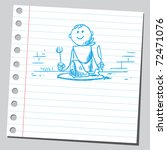 sketchy illustration of a man... | Shutterstock .eps vector #72471076