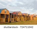 Horizontal Image Of A Row Of...