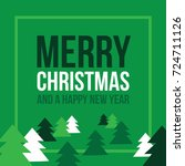 merry christmas and happy new... | Shutterstock .eps vector #724711126