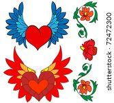 valentine set  tattoo and... | Shutterstock .eps vector #72472300