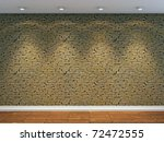 3d Render Of Stone Wall With...