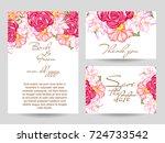 vintage delicate invitation... | Shutterstock .eps vector #724733542