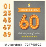 congratulations greeting card... | Shutterstock .eps vector #724740922