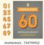 congratulations greeting card... | Shutterstock .eps vector #724740922