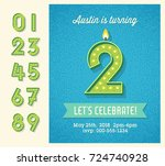 retro birthday party invitation ...   Shutterstock .eps vector #724740928