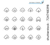 cloud computing thin icons.... | Shutterstock .eps vector #724748398