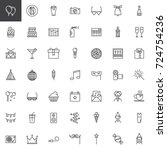 party line icons set  outline... | Shutterstock .eps vector #724754236