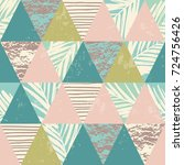 seamless exotic pattern with... | Shutterstock .eps vector #724756426